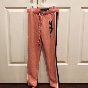 abercrombie and fitch pink sweatpants